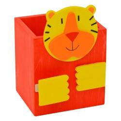 Drevený stojan na ceruzky - tiger