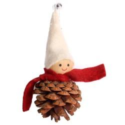 Ozdoba na vianočný stromček - chlapček biely na šiške