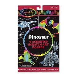 Škrábacie obrázky - dinosaurus