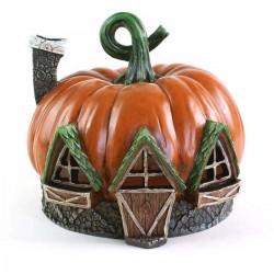 Domček pre miniatúrne záhradky - Halloween tekvica