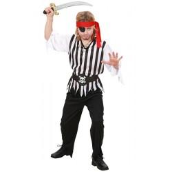 Detský karnevalový kostým - Pirát veľ.140 cm