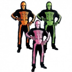 Detský karnevalový kostým - Kostlivec neónovo-oranžový