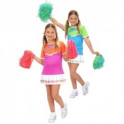 Detský karnevalový kostým - Pom-pom girl - ružová