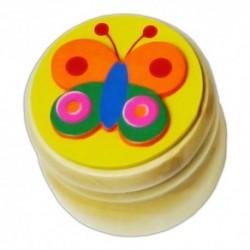 Drevená krabička na uschovanie mliečnych zúbkov - motýlik