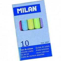 Farebné kriedy na tabuľu - 10 kusov