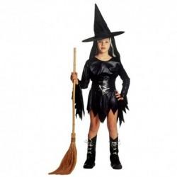 Detský karnevalový kostým - Bosorka - čierna farba