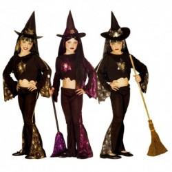 Detský karnevalový kostým - Bosorka - zlatá farba