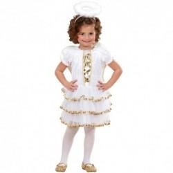 Detský karnevalový kostým - Anjelik veľ.116 cm