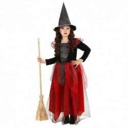 Detský karnevalový kostým - Bosorka červeno-čierna