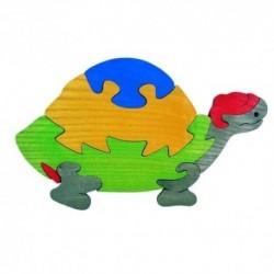 Drevená dekorácia - korytnačka modrá