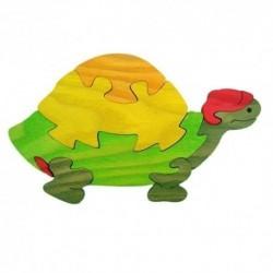 Drevená dekorácia - korytnačka oranžová