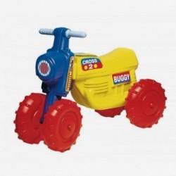 Detské odrážadlo Cross 2 motorka buggy - žltá