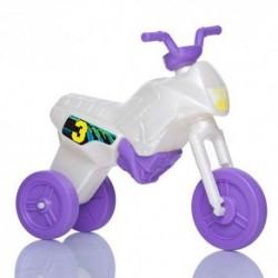 Detské odrážadlo - Enduro motorka veľká - bielo-fialová
