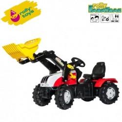 Rolly Toys Detský šlapací traktor FarmTrac Steyr CVT 6230 s lyžicou