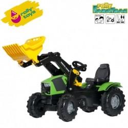 Rolly Toys Detský šlapací traktor FarmTrac Deutz-Fahr 5120 s lyžicou