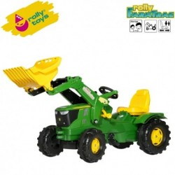 Rolly Toys Detský šlapací traktor FarmTrac John Deere 6210R s lyžicou