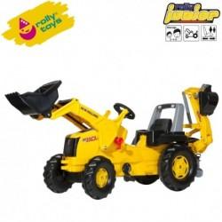 Rolly Toys Detský šlapací traktor Junior New Holland s lyžicou a s bagrom