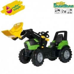Rolly Toys Detský šlapací traktor FarmTrac Deutz-Fahr Agrotron 7250 TTV s lyžicou