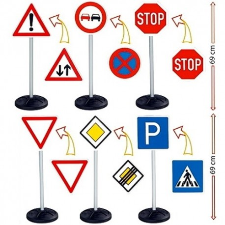 BIG Detské dopravné značky 6 kusov v sete
