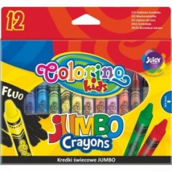 Colorino Kids farebné voskovky Jumbo 12 ks
