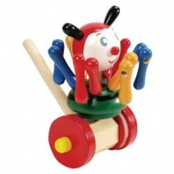 Drevená hračka na tlačenie - Chobotnica