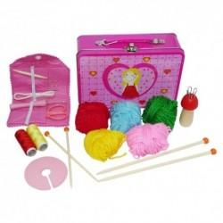 Detský set na štrikovanie v kufríku