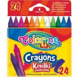 Colorino Kids farebné voskovky 24 ks