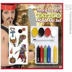 Farby na tvár s tetovačkami pre piráta