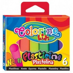 Colorino Kids farebná plastelína 6 farieb Neon