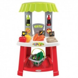 ÉCOIFFIER detský zeleninový stánok s nákupným košíkom 100% Chef Organic s 18 doplnkami