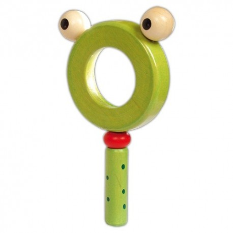 Detská drevená lupa - Žabka