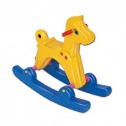 DOHÁNY detský hojdací koník žlto-modrý