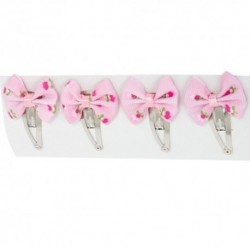 Pukačky do vlasov 4 kusy - ružové mašličky