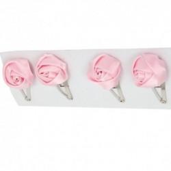 Pukačky do vlasov 4 kusy - ružové ružičky