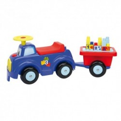 ÉCOIFFIER detské odrážadlo Auto s prívesom Maxi Abrick + 10 kociek