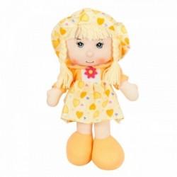 Látková bábika - 40 cm-ová textilná - v žltých šatách