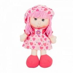 Látková bábika - 40 cm-ová textilná - v ružových šatách