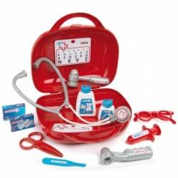 SMOBY Detský doktorský kufrík s 13 doplnkami - červený