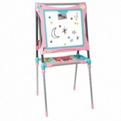 SMOBY Obojstranná detská tabuľa - ružovo-tyrkysová