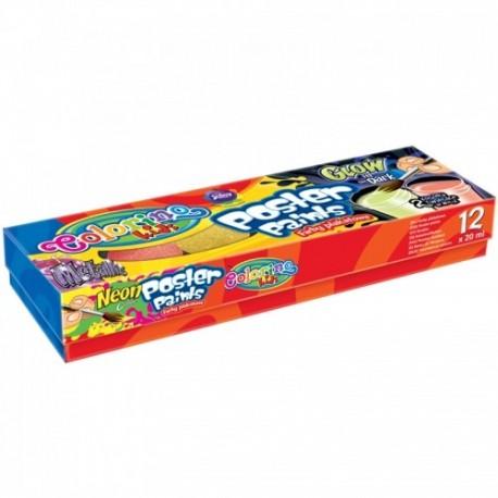 Colorino Kids temperové farby 12x20ml MIX