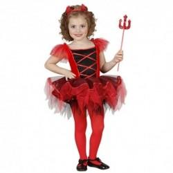 Detský karnevalový kostým - Balerína čertica