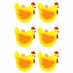 Drevené ozdobné štipce 6ks - sliepočky žlté