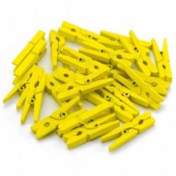 Drevené štipce mini - 24 kusov žlté