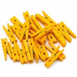 Drevené štipce mini - 24 kusov oranžové
