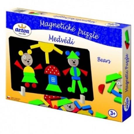 DETOA Drevené magnetické puzzle Medvede