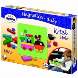 DETOA Drevené magnetické puzzle Krtko MINI