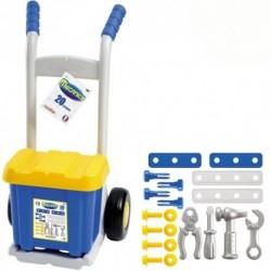 ÉCOIFFIER kufrík s náradím na kolieskach - modro-žltý