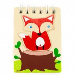 Drevený poznámkový blok malý - líška