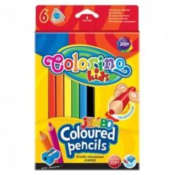 Colorino Kids farebné ceruzky 6 ks Jumbo