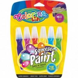 Colorino Kids štetcové temperové farby v tube